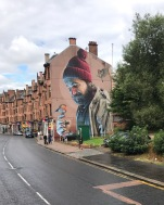 Street murals through Glasgow.