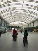 Historic station with modern interior - Haymarket Train Station in Edinburgh.