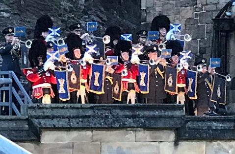 The start of the Edinburgh Castle Military Tatoo.
