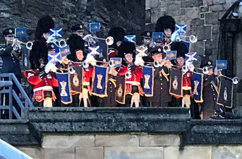 The start of the Edinburgh Castle Military Tatoo.
