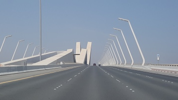 The Sheikh Zayed Bridge leading to Abu Dhabi designed by Zaha Hadid.