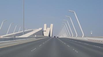 The Sheikh Zayed Bridge leading to Abu Dhabi designed by Zaha Hadid.