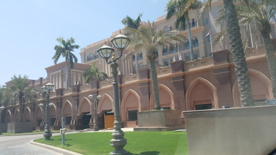 The Emirates Palace Abu Dhabi.