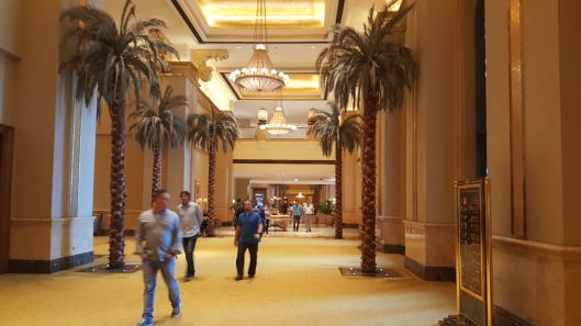 One of seemingly millions of interior hallways in the Emirates Palace Abu Dhabi.