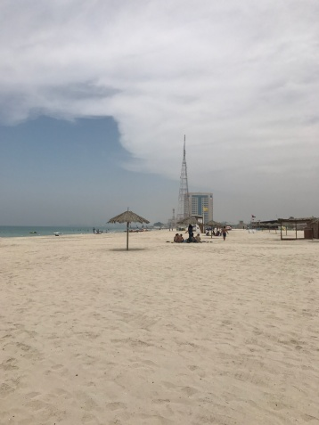The Sharjah beach (away from the Corniche).