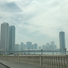 Another view of the Sharjah Corniche.