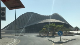 Norman Foster's UAE Pavilion, with a little less luster than it had in Shanghai.