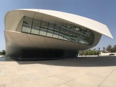 One face of the multifaceted Etihad Museum in Dubai.