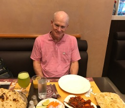 Jimmy at Landmark Restaurant, a great (and inexpensive!) restaurant in Satwa, Dubai.