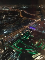 The view at At.mosphere, Burj Khalifa, the world's highest restaurant.