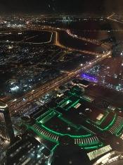 The view at At.mosphere, Burj Khalifa, the world's highest restaurant.