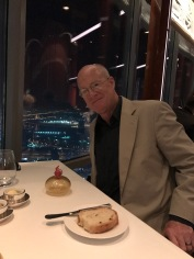 My amazingly handsome dinner date at At.mosphere, Burj Khalifa.