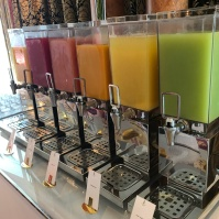 Every kind of juice imaginable at the Burj Al Arab. We love juices here!