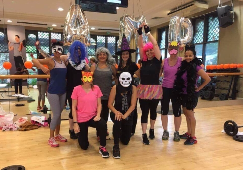 Our Body Pump Instructor brought costumes - some even wore them through class (Fitness First, Al Manzil, Downtown Dubai)