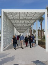 "Entering the Louvre Abu Dhabi - with it's own ""rain of light""."