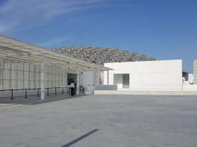 The entrance to the Louvre Abu Dhabi (before the crowds arrived).
