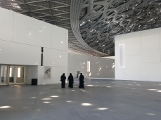 The courtyard at the Louvre Abu Dhabi.