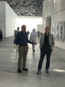 Jimmy & Beezer marvel at the dome at the Louvre Abu Dhabi