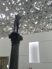 Rodan sculpture in the main area of Louvre Abu Dhabi.