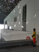 Is the Louvre Abu Dhabi the only museum in the world that requires lifeguards?
