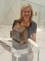 Reliquary exhibit in gallery 1 of Louvre Abu Dhabi.