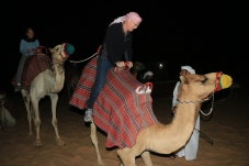 Riding a camel is a bit like riding a roller coaster when the camel gets up and down....