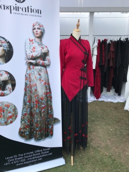 A booth at the Dubai Modest Fashion Show.