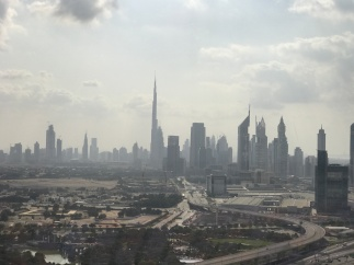 "The view of ""new Dubai"" from the top of the Dubai Frame."