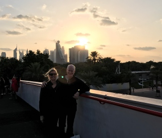 Sunset from the bridge near the Dubai Frame.