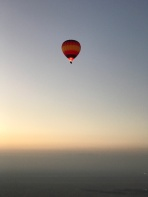The view of another balloon from ours in the Empty Quarter outside Dubai.