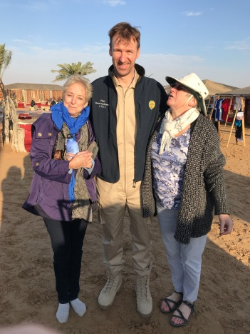 Ellen and Dorothy with our very capable hot air balloon pilot.