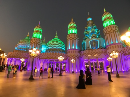 Spectacular lights and scenery at Dubai's Global Village.