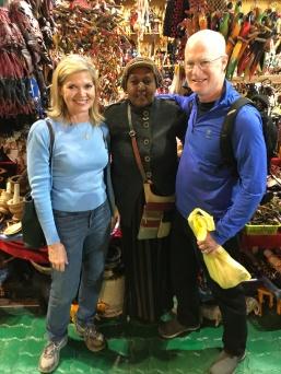 We shop in Africa at Dubai's Global Village.