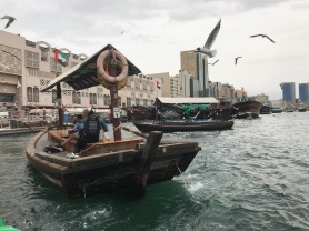For one dirham, you can take an old fashioned dhow across Deira Creek.