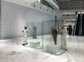 Fashion art on display at Dubai Mall's new Fashion Avenue extension.