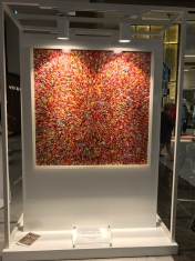 One of Robi Walters' colorful art pieces at the Dubai Mall.