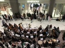 For the opening of Dubai store Symphony, what else but a Symphony?