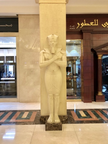 There are multiple Pharaoh statues in Wafi Mall, which has an ancient Egyptian theme.