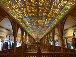 The Souk below ground at Wafi Mall also has stained glass ceilings.