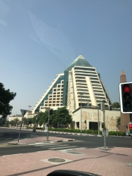 Present day pyramids in Bur Dubai - this is the Raffles Hotel, adjacent to the Wafi Mall.