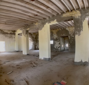 This is a view of the inside of a mosque at Al Jazirat Al Hamra. While near Ras Al Khaimah, the town was once part of Sharjah.