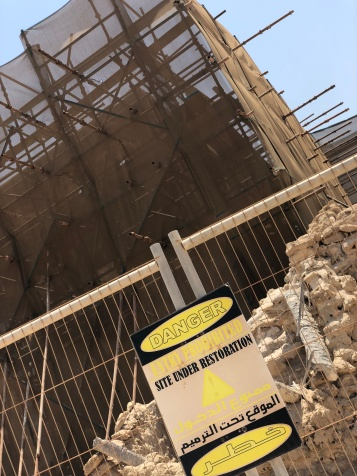Some areas are cordoned off and under restoration at Al Jazirat Al Hamra near Ras Al Khaimah.