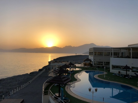 A view from our balcony at Oman's Atana Khasab in Musandam.