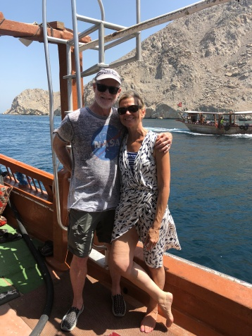 Jimmy and me on the dhow cruise in Oman.