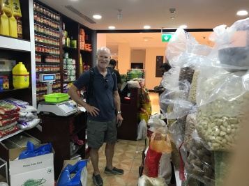 "My husband Jimmy shops for nuts at the Dubai Waterfront Market dry goods section (I will stifle the urge to tell you that he can be a bit ""nutty"" himself...)"