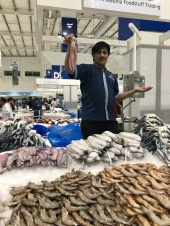 You will find row upon row upon row of these tables of fish at the Dubai Waterfront Market...