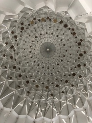 A look inside the diamond sculpture outside the Dubai Opera House.