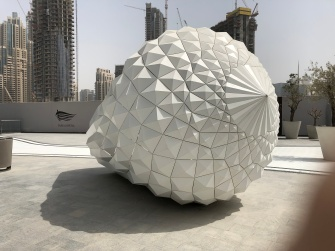 Another sculpture outside the Dubai Opera House, this one in the shape of a diamond - do not forget to look inside.