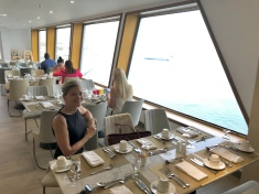 Breakfast in The Lido restaurant on the QE2, permanently docked as a hotel in Dubai.