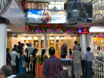Inside the Hindu Temple.